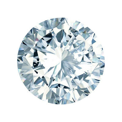 Off White Blue Loose Moissanite (VVS1-VS2) 5.00 MM to 11.00 MM Round Cut
