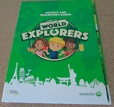 Woolworths World Explorers Activity And Collector Album National Geographic Empt