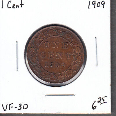 1909 Canada - One Cents - VF-30 - King Edward VII Large Cent - AC14
