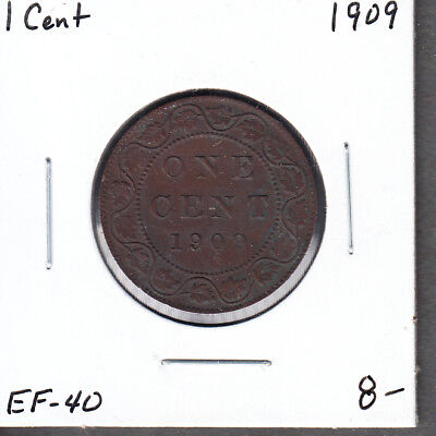 1909 Canada - One Cent - EF-40 - King Edward VII Large Cent - AC15
