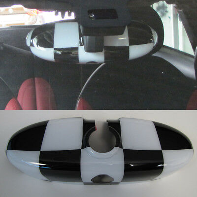 FOR MINI ONE COOPER R55 clubman R56 R57 Cabriolet Rearview Mirror Checkered