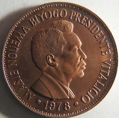 Equatorial Guinea 2000 Ekuele Proof - Trial Strike in Copper - 25 or Less Total
