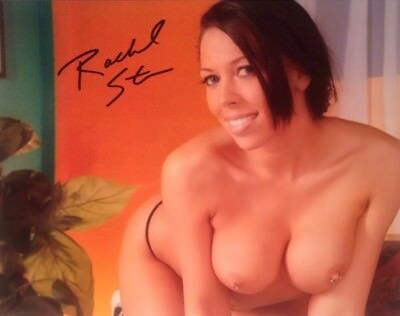 Rachel Starr Adult STAR Hand SIGNED 8X10 PHOTO AUTOGRAPH Sexy brunette Rare