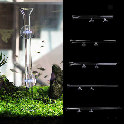 Aquarium Fish Tank Shrimp Feeder Feeding Food Tube 25-45cm Length + Suction Cups
