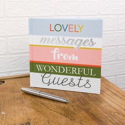 Guest Book Lovely Messages from wonderful Guests Hard back New