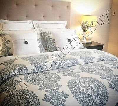 pottery barn lucianna duvet cover set blue king 2 king. Black Bedroom Furniture Sets. Home Design Ideas
