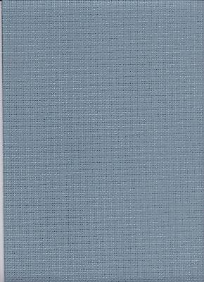 "16 Count Zweigart Aida Cross Stitch Fabric FQ ""Misty Blue"" size 49 x 54cms"