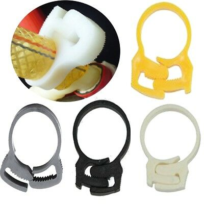 40x Adjustable HOSE/CABLE CLIPS Lock Secure Pipe Seeger Snap Ring  Slot Hold