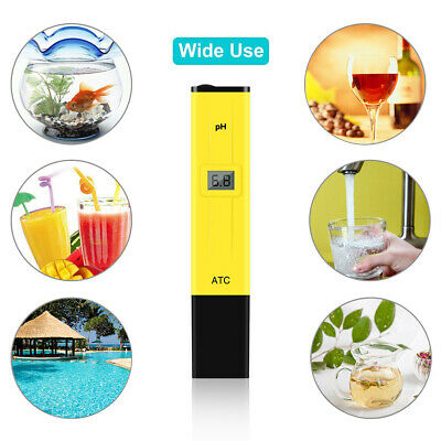 LCD Digital PH Meter Tester Pen Hydroponic Pool Water Aquarium Pocket Portable