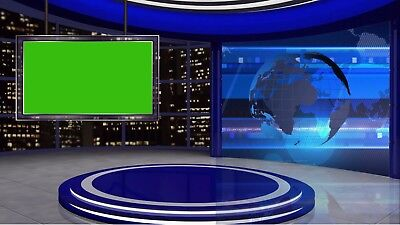 City studio virtual set with green screen - Use in vMix, Wirecast etc