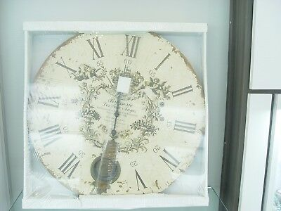 """Highland """"Brasserie Les Deux Anges""""  23""""with Pendulum  Decorative Wall Clock"""