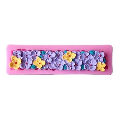Flower Lace Chocolate Cake Cookie Pudding Baking Mold Long Note Necklace Mold