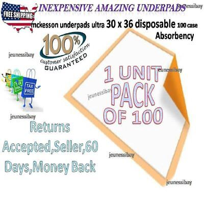 Absorbency Underpads For Bad Pads 30 X 36 Maximum Disposable Adults 100ct Case