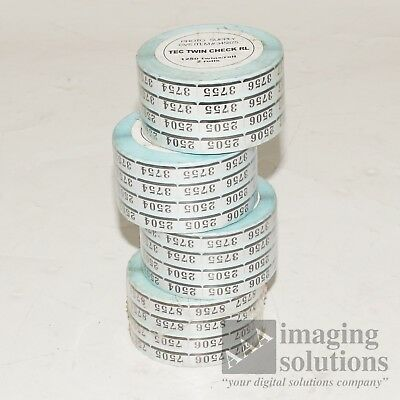Metallic Twin Checks 1250 Twins per Roll - 8 Rolls Included Minilab Noritsu Fuji