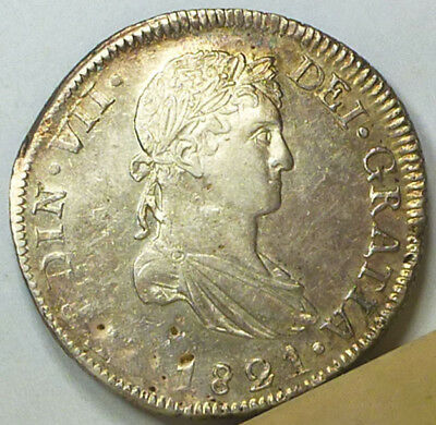 Mexico Durango Revolutionary 8 Reales 1821 Almost Uncirculated