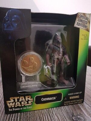 Star Wars Chewbacca POTF Minted Coin Collection sehr guter Zustand! 1997 Limited