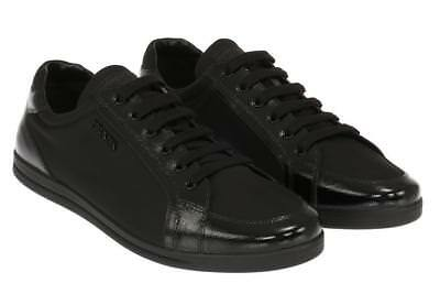 7e502de64fe6 New Prada Milano Luxury Black Tessuto Leather Trim Logo Sneakers Shoes  41 us 11