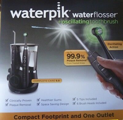 Waterpik Complete Care 5.5 Water Flosser & Oscillating Toothbrush New!