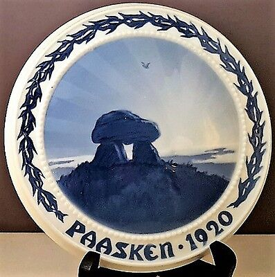Rare 1920 B&G Denmark EASTER PLAQUE Ancient Tomb NR