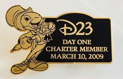 Disney D23 Day One Charter Member March 10, 2009 Inauguration Jiminy Pin 70465