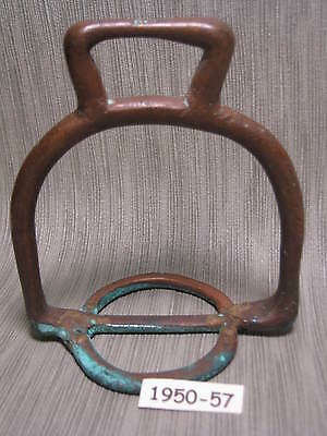 1700's Rare ANTIQUE Fancy Aged Green BRONZE or COPPER Saddle Stirrup