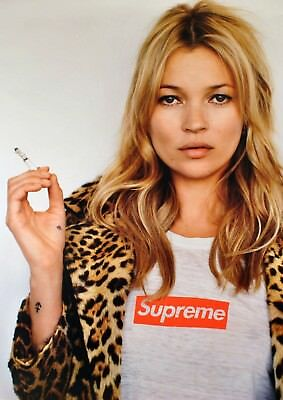 "KATE MOSS SUPREME Poster Fashion Icon High Quality Art Print 13x20"" 24X36"" 32x48"