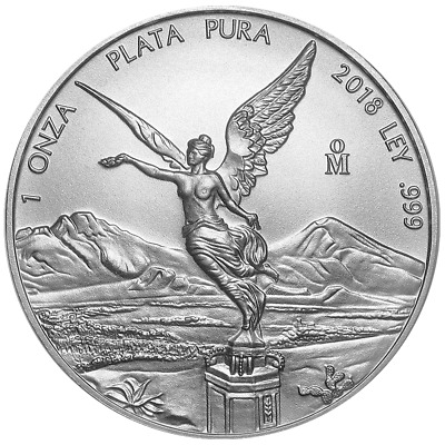 2018 Silver Mexican Libertad Onza 1 oz Brilliant Uncirculated
