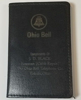 Vintage Advertising Ohio Bell Telephone Pocket Notepad Toledo