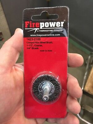 "Firepower 1423-2100 - 1-1/2"" Crimped Wire Wheel Brush"