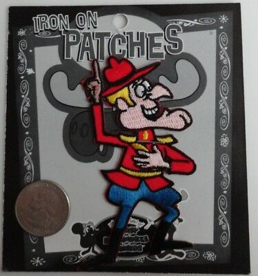 Dudley Do Right Rocky & Bullwinkle Classic Cartoon Iron On Patch Applique - Rare