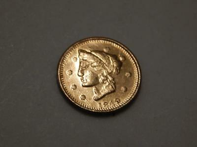 1849 British Columbia, Canada Gold Token One Marked 9 K.