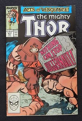 Mighty Thor #411 and #412 (1989, Marvel) - 1st New Warriors appearance (VF)