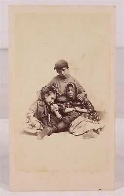 1860's ABOLITIONIST WHITE SKINNED SLAVE CHILDREN CDV PHOTOGRAPH BY J W BLACK #2