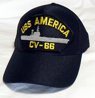 Uss America Cv-66 (Made In Usa) Us Navy Ship Hat Officially Licensed Ball Cap