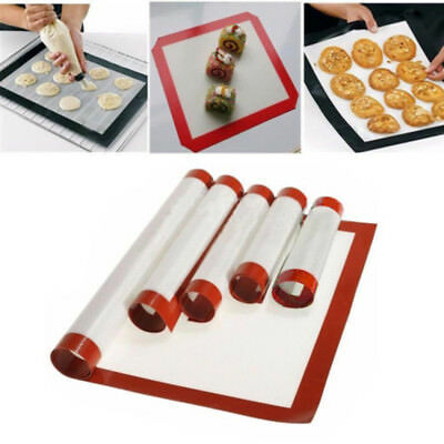 Silicone Baking Mat Sheet Bakeware Oven Non Stick Cookie Tray Heat Resistant