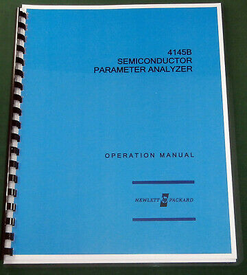 HP 4145B Operation Manual: Comb bound & Protective Covers