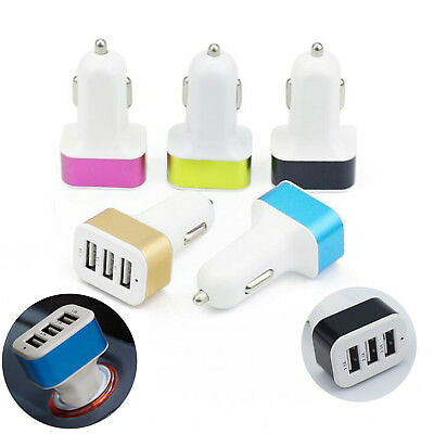 3.1A Fast USB Car Charger 3 Port  Adapter For Smart Mobile Cell Phone Universal