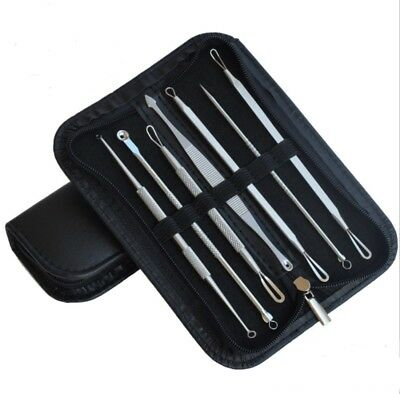 7pcs Blackhead Acne Comedone Pimple Blemish Extractor Remover Stainless Tool Kit