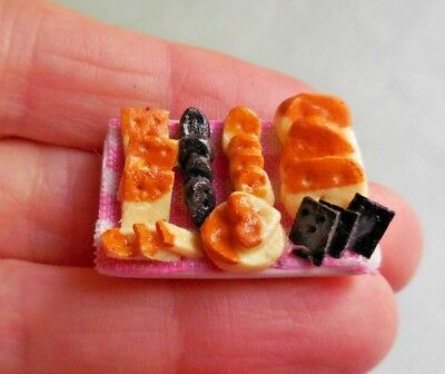Dollhouse Miniature ~ Tray Of Assorted Crackers