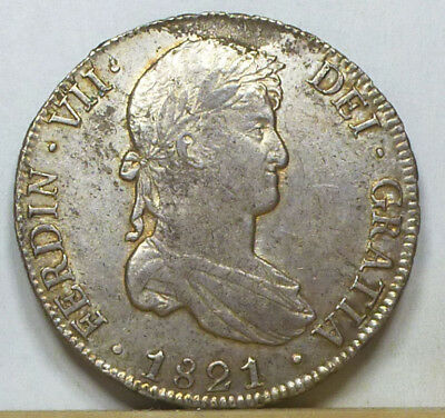 Bolivia 8 Reales 1821 PTS-PJ Extremely Fine