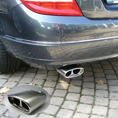 for 2 Tail Pipes Double Exhaust End Stainless Steel Mercedes w204 204 C Class