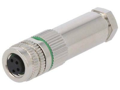 SM8-PVC-A4F-1B10 Connector M8 female PIN4 straight for cable plug 3A