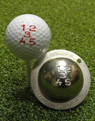 1 only TIN CUP GOLF BALL MARKER- FRONT NINE NUMBERS 1 to 5  & YOURS FOR LIFE