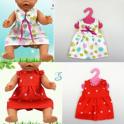Handmade 18 Inch Dolls Dress Clothes fit 43cm Baby Born Zapf American  Dolls