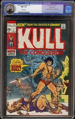 Kull the Conqueror # 1 CGC 9.2 White (Marvel, 1971) Pacific Coast pedigree