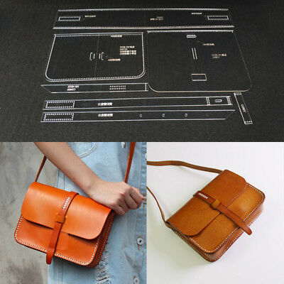 Acrylic Template Pattern for Messager Schultertasche Leather Craft Pattern Neu