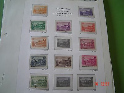 Norfolk Island On Pages 1947 thru to 1982 Hingeless Pages Few Stamps Great Start