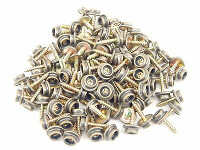 "100 Screw-In Snap Fasteners Studs Buttons 5/8"" Antique Brass Finish Upholstery"