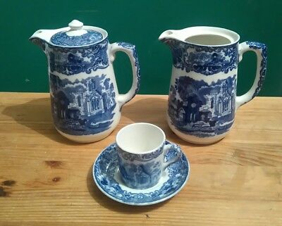 George Jones & Sons Coffee Items in the Abbey 1790 Pattern