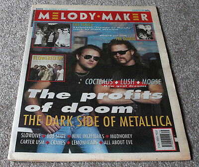 Melody Maker – 31.08.1991 – Metallica, PM Dawn, Pixies, Flowered Up, Slowdive